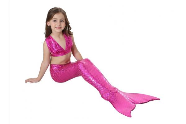 Хвост русалки блестящий с чешуей розовый