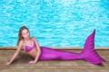 Хвост русалки фиолетового цвета