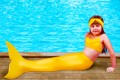 Хвост русалки желтого цвета